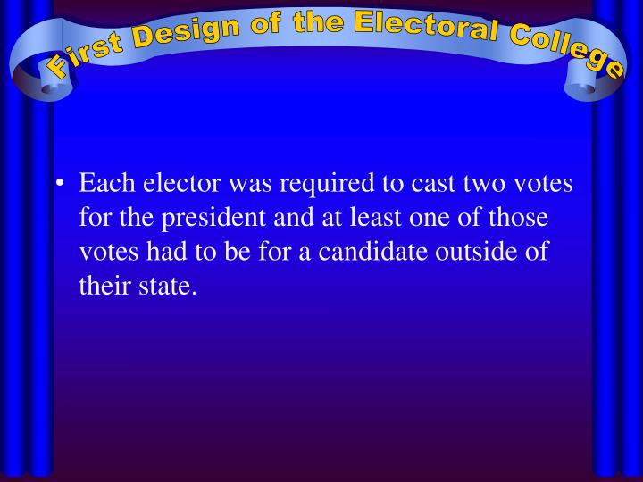 First Design of the Electoral College