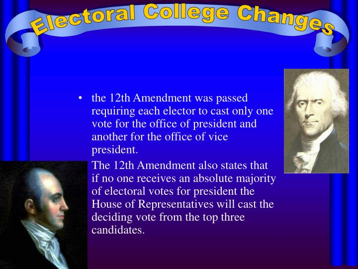 Electoral College Changes