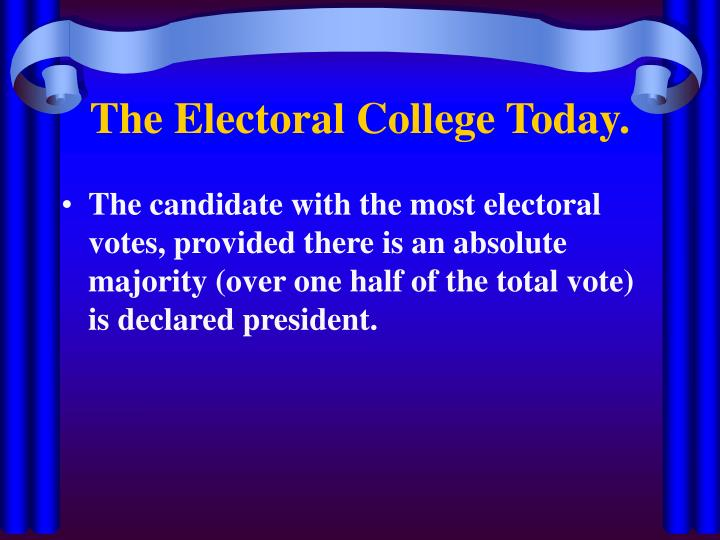 The Electoral College Today.