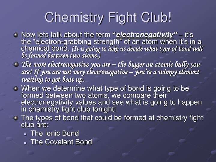 Chemistry Fight Club!