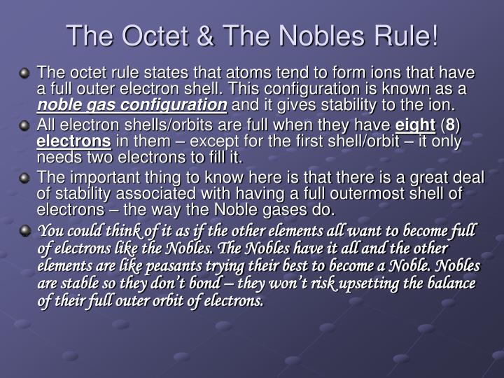 The Octet & The Nobles Rule!