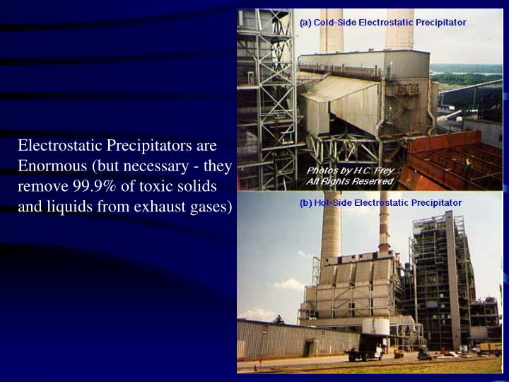 Electrostatic Precipitators are Enormous (but necessary - they remove 99.9% of toxic solids and liquids from exhaust gases)