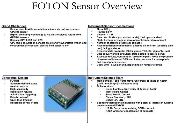 FOTON Sensor Overview