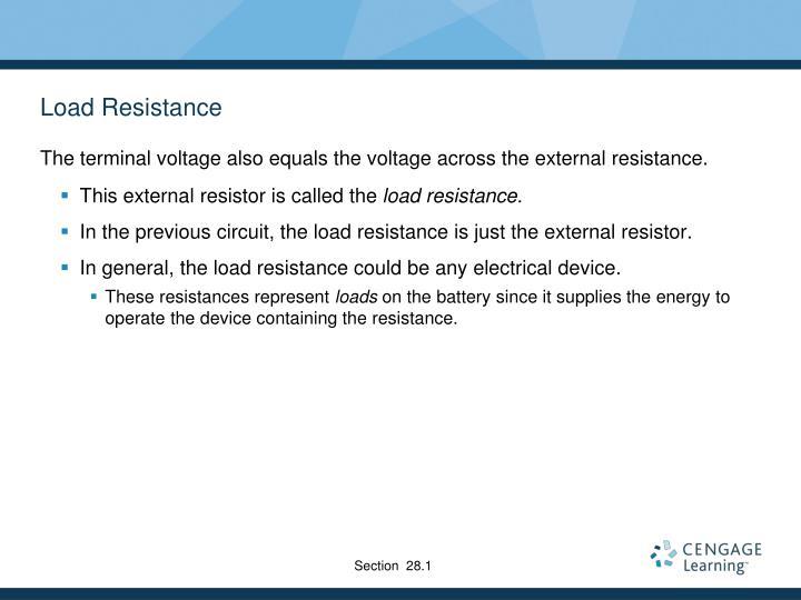 Load Resistance