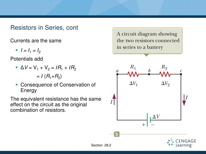 Resistors in Series, cont