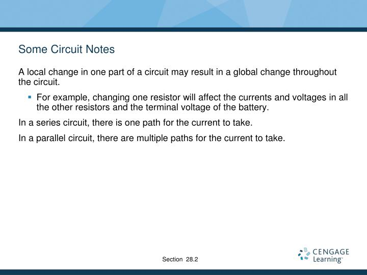 Some Circuit Notes