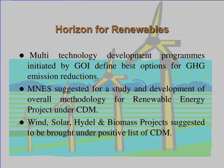 Horizon for Renewables