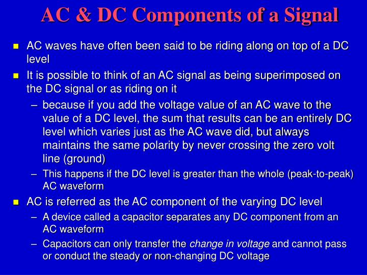 AC & DC Components of a Signal