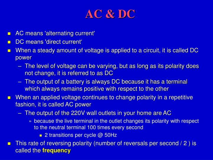 AC & DC