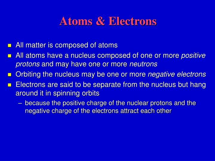 Atoms & Electrons