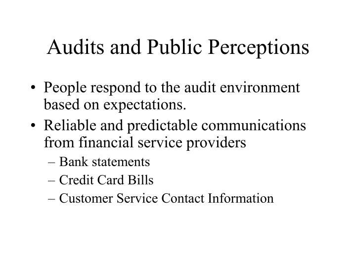 Audits and Public Perceptions