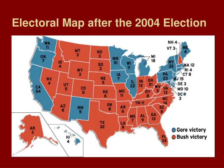 Mapping The Election Results In MapPoint Streets Trips Team Blog - Us presidential map 2004