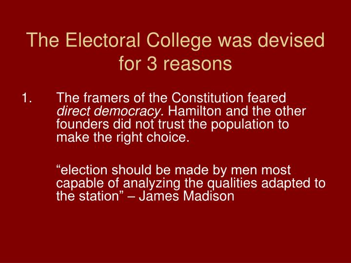 is the electoral college a democratic Hillary clinton lost the presidency on tuesday, but very likely won the popular vote.