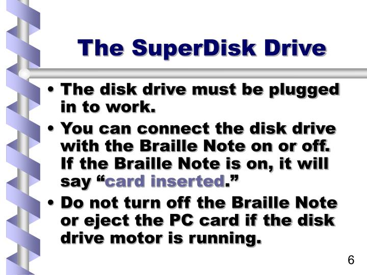 The SuperDisk Drive