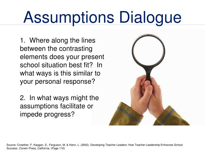 Assumptions Dialogue