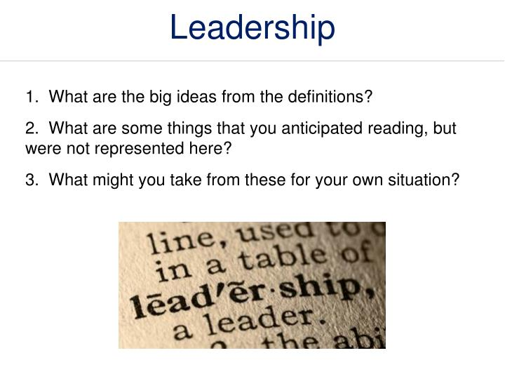 Definitions of Teacher Leadership