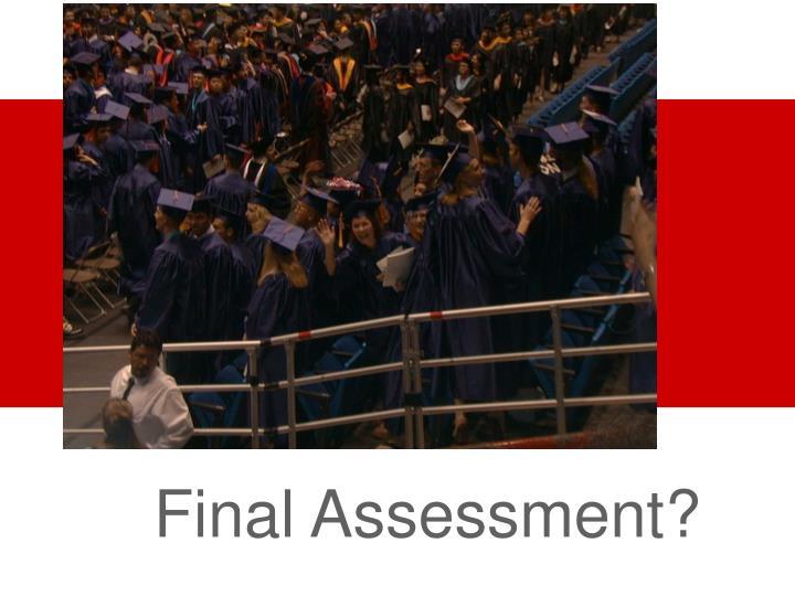Final Assessment?