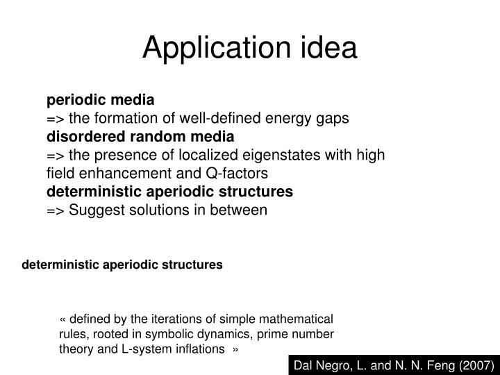 Application idea