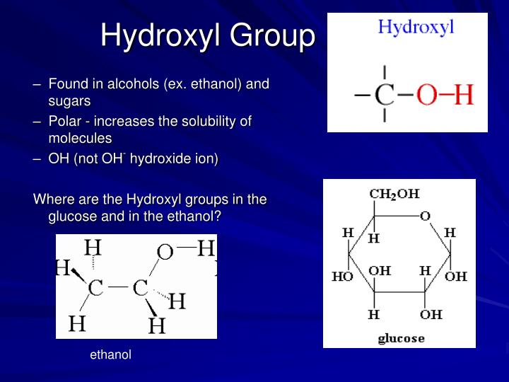 Properties Of Hydroxyl Functional Group