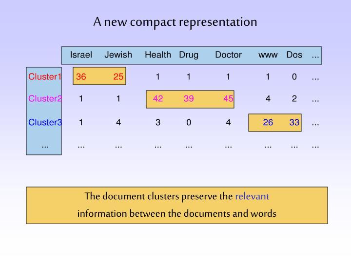 A new compact representation
