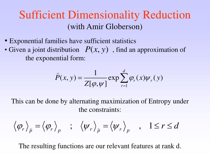 Sufficient Dimensionality Reduction