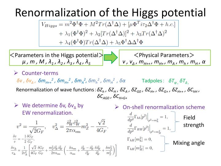 Renormalization of the Higgs potential