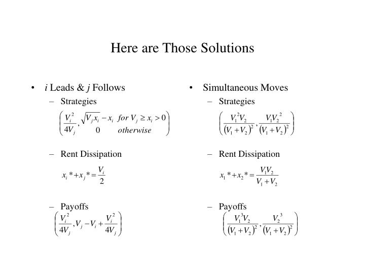 Here are Those Solutions