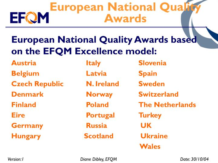 European National Quality Awards