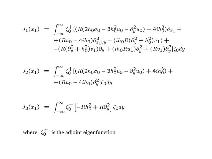 where           is the adjoint eigenfunction