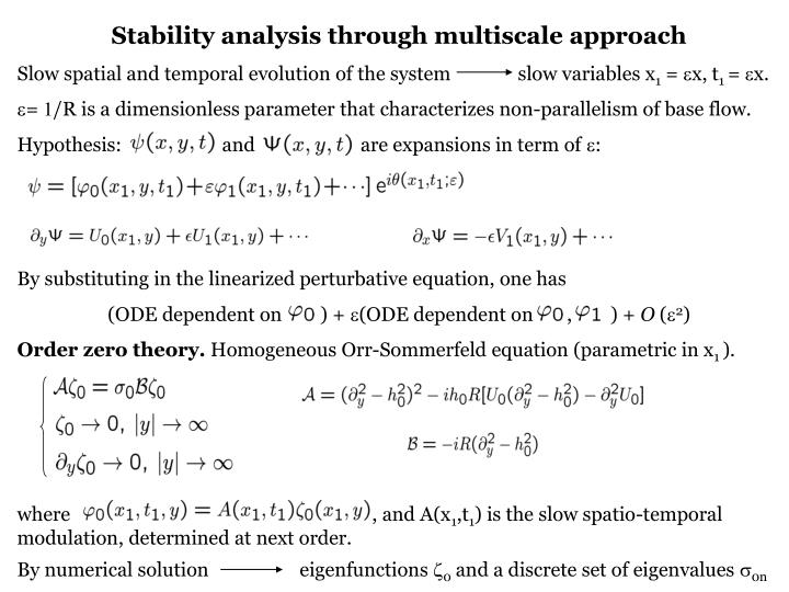 Stability analysis through multiscale approach