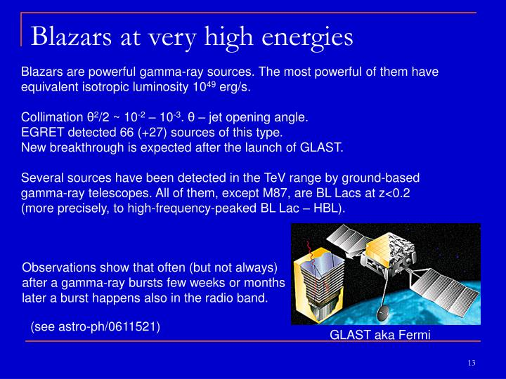 Blazars at very high energies