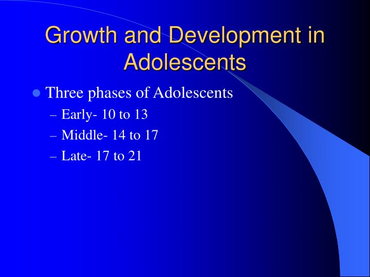 Growth and development in adolescents