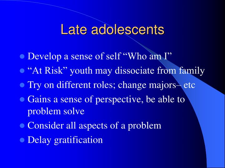 Late adolescents