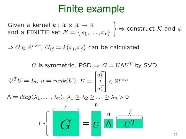 Finite example