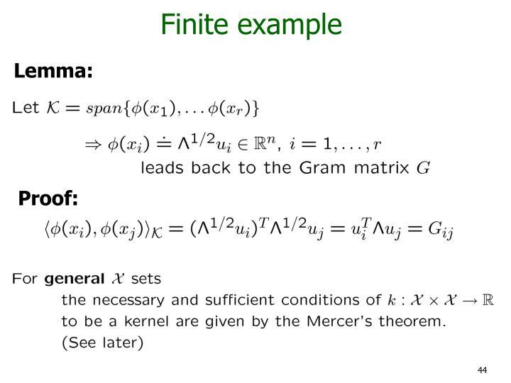 Finite example