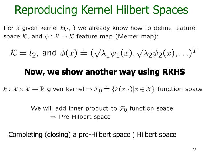 Reproducing Kernel Hilbert Spaces