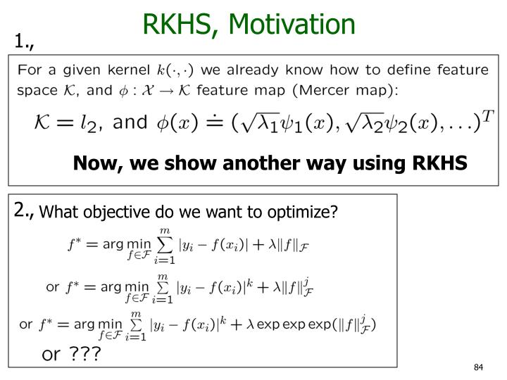 RKHS, Motivation