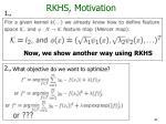 rkhs motivation