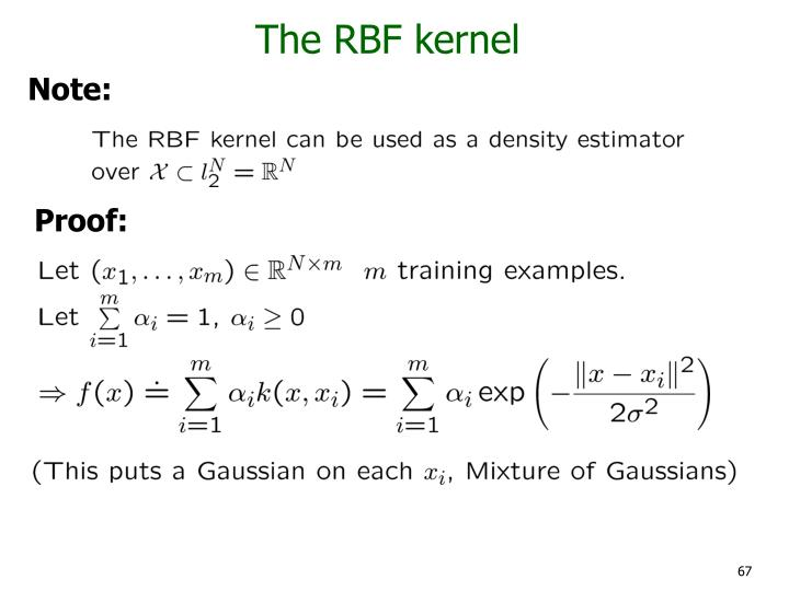 The RBF kernel