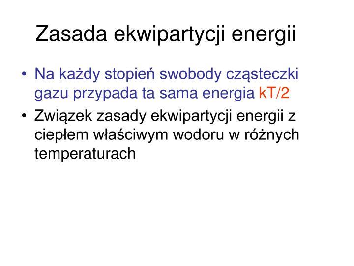 Zasada ekwipartycji energii