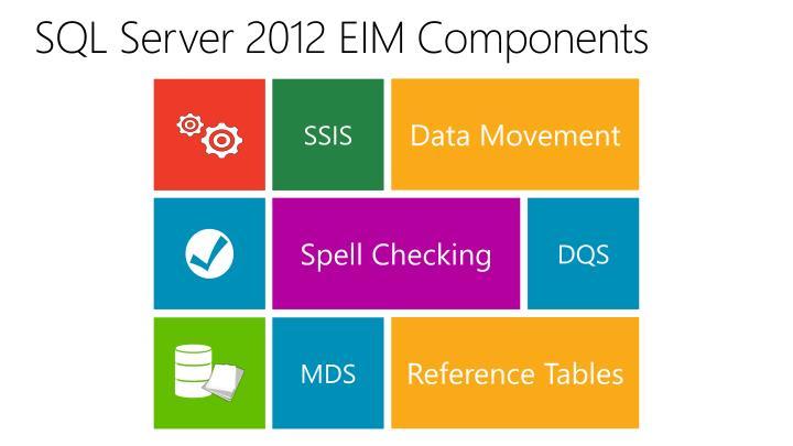 SQL Server 2012 EIM Components