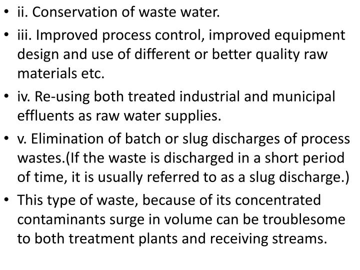 Ii. Conservation of waste water.