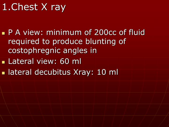 1.Chest X ray