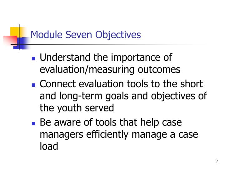 Module Seven Objectives