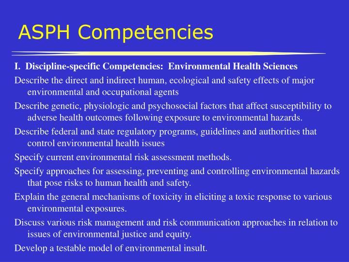 ASPH Competencies