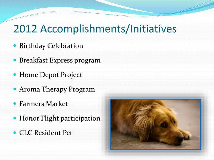 2012 Accomplishments/Initiatives