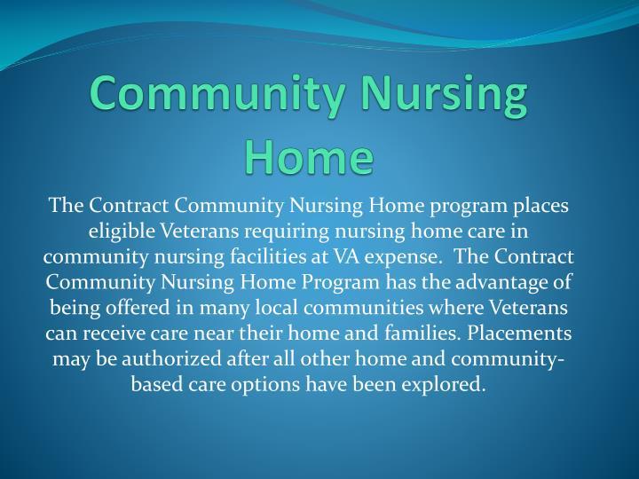 Community Nursing Home