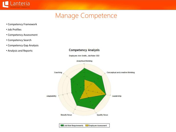 Manage Competence