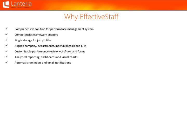 Why EffectiveStaff