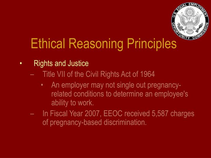 Ethical Reasoning Principles